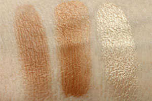 Estee-Lauder-Bronze-Powder-Light-and-Liquid-Bronzer-Swatches (свотчи)